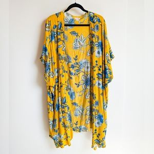 Oversized Bohemian Open Front Kimono Duster